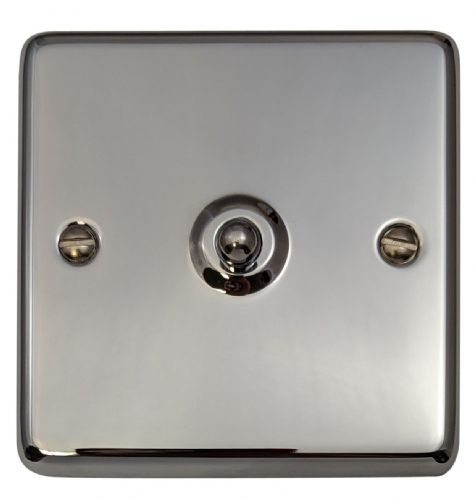 G&H CC285 Standard Plate Polished Chrome 1 Gang Intermediate Toggle Light Switch
